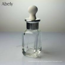Bouteilles d'huile de verre portatives élégantes de 25 ml