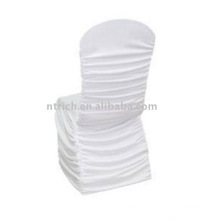 Cheap and High Quality Spandex Ruffled Chair Covers,Wedding Chair Covers with Ruffles