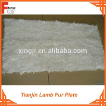 Color natural blanco Tianjin Lamb Fur Plate