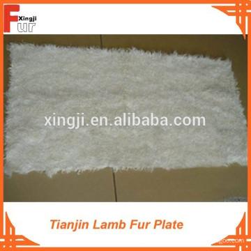 Natürliche Farbe weiß Tianjin Lammfell Platte