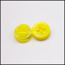 Botão de Rio casca com cor de esmalte amarelo