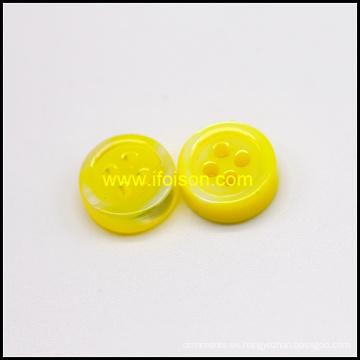 Botón de Shell río de color esmalte amarillo