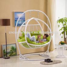Cadeira de balanço para jardim de exterior com apoio para os pés