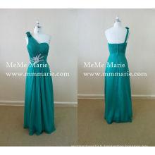 2016 robe de dame verte robe de soirée robe de mariée en strass Robe de mariée en mousseline de soie turquoise