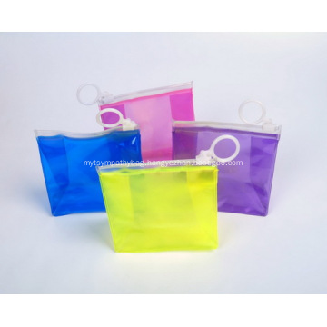 Branded Logo With Zipper PVC Bags With Hook