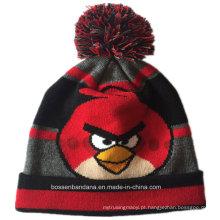 OEM Produce Personalizado Desenho Cartoon inverno acrílico malha Jacquard Beanie Hat