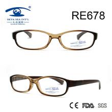 Vidros de leitura de plástico Crystle Brown Small Frame (RE678)