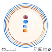 Мульти-цветовой круг тарелка с точками