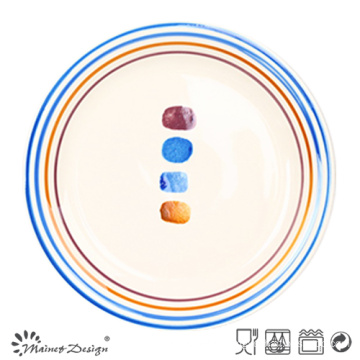 Multi-Color Circle Dinner Plate with Dots