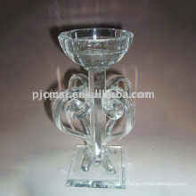 Tall Crystal Clear Candle Holder For Wedding Table Decoration