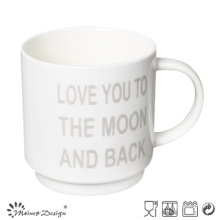 White Color with English Words Stable Coffee Mug