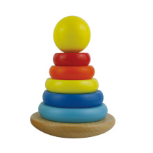 2016 New Arrival Classical Rainbow Wooden Baby Stacking Toys