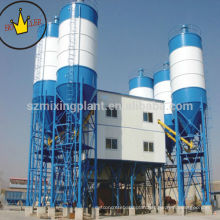 HZS120 mini ready-mixed concrete mixing plant, automatic stationary cement plant for sale