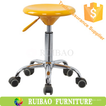 2016 Wholeasle Modern Style Red Plastic Seat Metal Frame Bar Stool High Chair (RBS-6014)