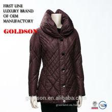Italia nueva chaqueta del diseño femenina abajo abajo con el collar redondo redondo de la oferta