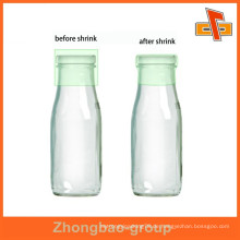 Heißer Verkauf pvc schrumpfen Hülse Plastikflaschen-Kappendichtung für Milch