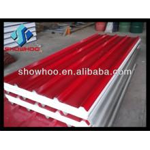 Panel de techo de chapa metálica prefabricada