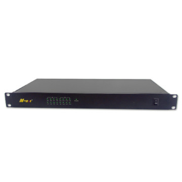 1 U 8 channel video analog video converter
