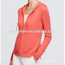 Hot Sale Women 100% Cashmere Cardigan Sweater