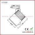 Luminosité 15W COB Light Track avec 2 lignes LC2315n