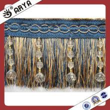 Franja de la borla de la cortina del cepillo, ajustes para las cortinas, cubierta de la silla, marco de la foto, paño de la tabla y accesorio de la valencia