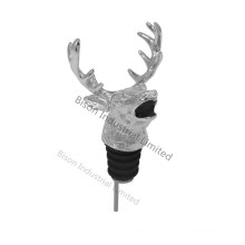 China Factory Sell Silver Deer Head Wine Pourer