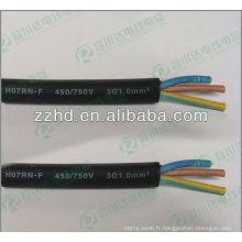 450 / 750v IEC norme EPR isolé gaine néoprène flexible HO7RN-F caoutchouc câble