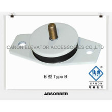Absorber for Elevator Traction Machine