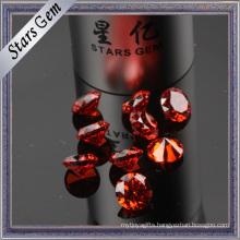 Special Color MID-Garnet Round Cubic Zircohnia CZ Stone