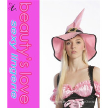Fornecedor da China Sexy Pink Cosplay Witch Hat