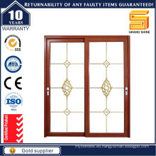 Puertas de vidrio de aluminio de estilo europeo