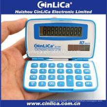 JS-10H calculadora promocional de 10 dígitos viajando pequeña calculadora