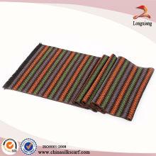 Multicolor Infinity Chevron bufanda, tejido de bufanda cuello, bufanda de seda grande