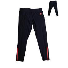 Pantalones de ciclismo para mujer con pantalón de correr con cremallera en la abertura de la pierna y espalda, fabricante de ropa deportiva