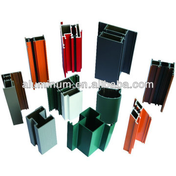 Perfil de puerta de aluminio de recubrimiento en polvo