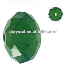 Perles de cristal vert foncé A