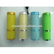 Linterna llevada verde, reflector llevado de la linterna, mini linterna llevada