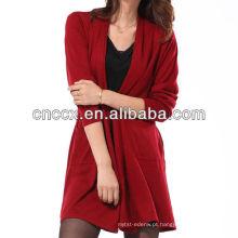 13STC5119 senhora longo cardigan suéter casaco