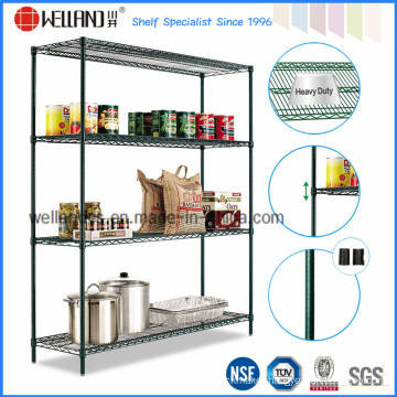 Adjustable Wire Metal Convenience Grocery Store Display Shelves, NSF Approval