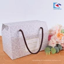 Caixa de papel de empacotamento ondulado feito sob encomenda portátil barato barato da fábrica