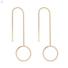 Stainless Steel Young Girls Fine Jewelry Korean Model Selling Earrings