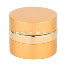 Fancy Round Aluminium Cosmetics Crème Vide Jar