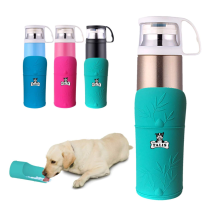 Botella de agua de viaje para perros conveniente aislada