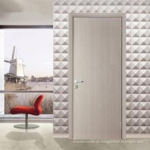 Porta de madeira nivelada moderna branca da sala de Inteiror com quadro e hardware