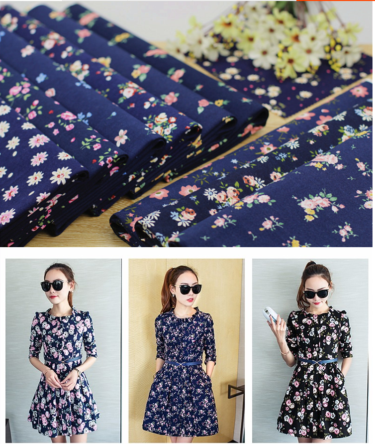 100% Cotton Women Dresses Fabric