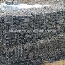 Standard galvanized gabion box from China ISO9001 factory,4mmX1mX1m welded wire mesh galfan gabion basket on sale