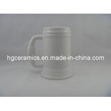 Ceramic Beer Stein, 500ml Ceramic Beer Stein