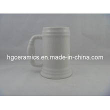 Ceramic Beer Stein, 500ml Ceramic Beer Stein