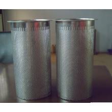 Cylindre de filtre perforé en acier inoxydable (tye)