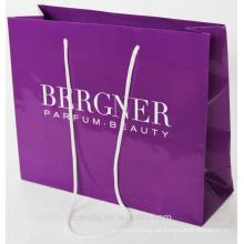 bolsa de papel de compras impresa personalizada
